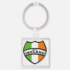 Made In Ireland Square Keychain