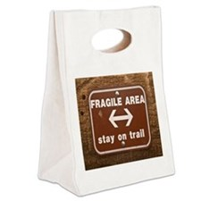 Fragile3by3 Canvas Lunch Tote