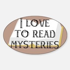 I Love to Read Mysteries Oval Decal