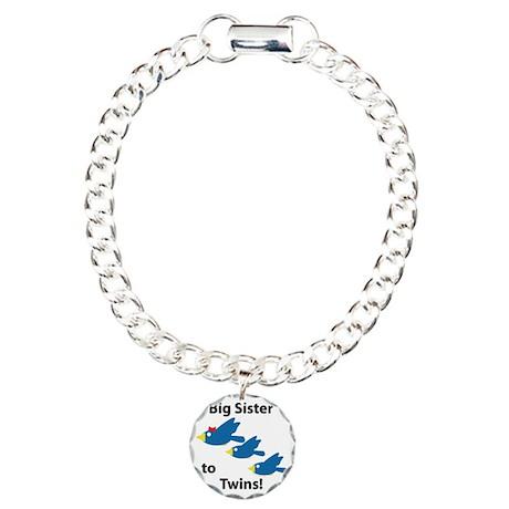 birdsbigsisteroftwins Charm Bracelet, One Charm