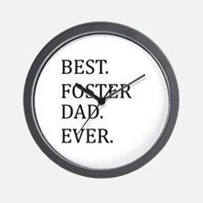 Best Foster Dad Ever Wall Clock