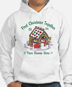 Personalize First Christmas Together Hoodie