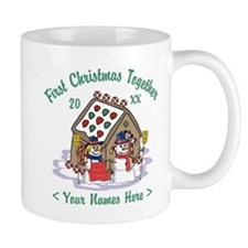 Personalize First Christmas Together Small Mugs