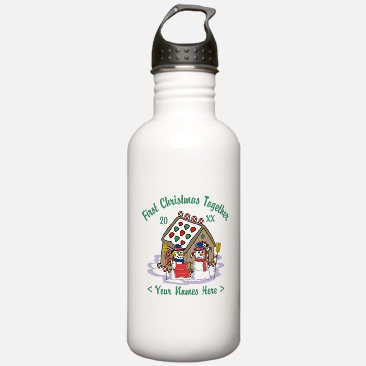Personalize First Christmas Together Water Bottle
