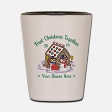 Personalize First Christmas Together Shot Glass