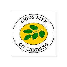 "camping4 Square Sticker 3"" x 3"""