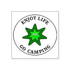 "camping1 Square Sticker 3"" x 3"""