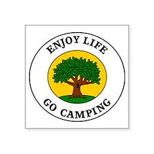 "camping3 Square Sticker 3"" x 3"""