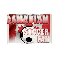 Canadian Soccer Fan! Rectangle Magnet