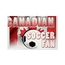 Canadian Soccer Fan! Rectangle Magnet (10 pack)