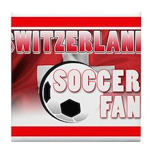 Switzerland Soccer Fan! Tile Coaster