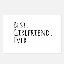 Best Girlfriend Ever Postcards (Package of 8)