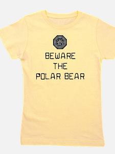 11x11beware the polar bear Girl's Tee