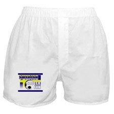 Swedish Soccer Fan! Boxer Shorts