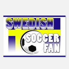 Swedish Soccer Fan! Postcards (Package of 8)