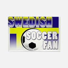 Swedish Soccer Fan! Rectangle Magnet