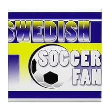Swedish Soccer Fan! Tile Coaster