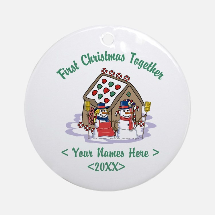 Personalize First Christmas Together Ornament (Rou
