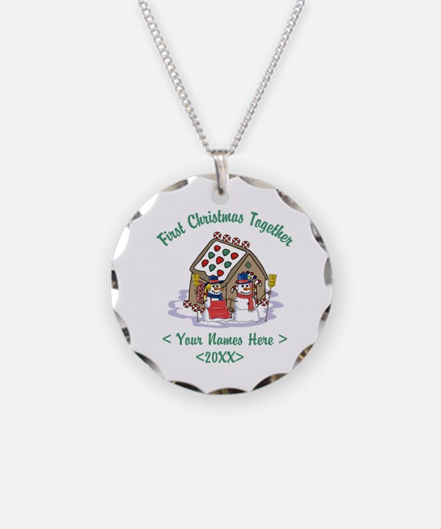 Personalize First Christmas Together Necklace