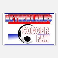 Netherlands Soccer Fan! Rectangle Decal