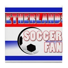 Netherlands Soccer Fan! Tile Coaster