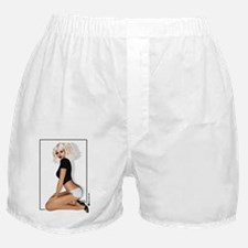 Sticker rectangle ClarissaB Pinup Gir Boxer Shorts