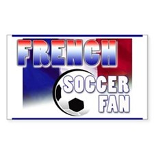 French Soccer Fan! Rectangle Decal
