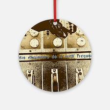 SEPIA CONSOLE Final. Round Ornament
