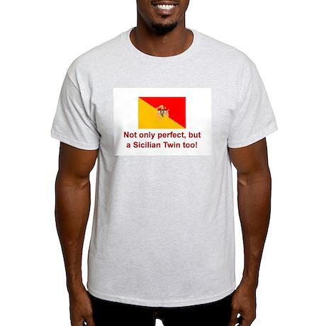 Sicilian Twin (Perfect) Ash Grey T-Shirt