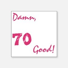 "good70_dark Square Sticker 3"" x 3"""