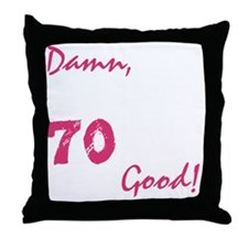 good70_dark Throw Pillow