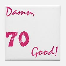 good70_dark Tile Coaster