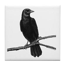 Black Crow ~ Tile Coaster