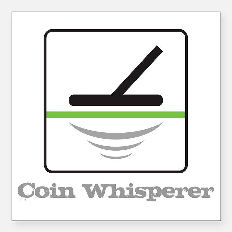 """MD Coin Whisperer Square Car Magnet 3"""" x 3"""""""