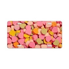 candy-hearts_8x12 Aluminum License Plate