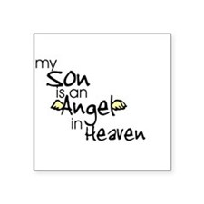 My son is an Angel Rectangle Sticker