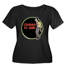 OS Buddi Women's Plus Size Dark Scoop Neck T-Shirt