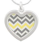 Gray Yellow Chevron Necklaces