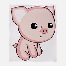 Lil Piggy Throw Blanket