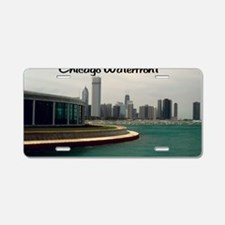 Chicago waterfront23x35 Aluminum License Plate