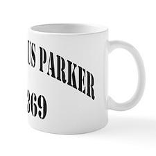 tparker black letters Mug