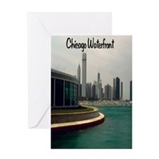 Chicago waterfront5.5x8.5 Greeting Card