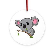 Hungry Koala Round Ornament