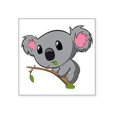 "Hungry Koala Square Sticker 3"" x 3"""