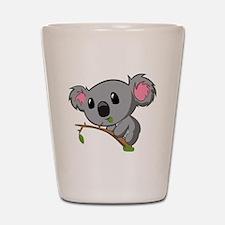 Hungry Koala Shot Glass