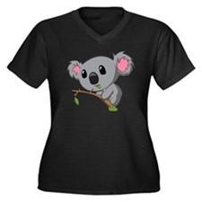 Hungry Koala Women's Plus Size Dark V-Neck T-Shirt