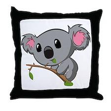 Hungry Koala Throw Pillow