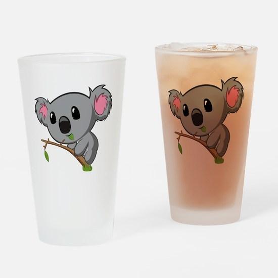 Hungry Koala Drinking Glass