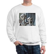 """Alien Couple"" - White Sweatshirt"