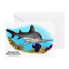 Whitetip Reef Shark Greeting Card